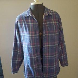 L.L. Bean Lined Shirt.